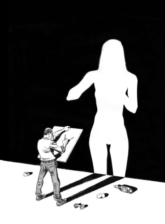 Projet de couverture (non retenu) pour l'album «Variations» (2017), du dessinateur Blutch.