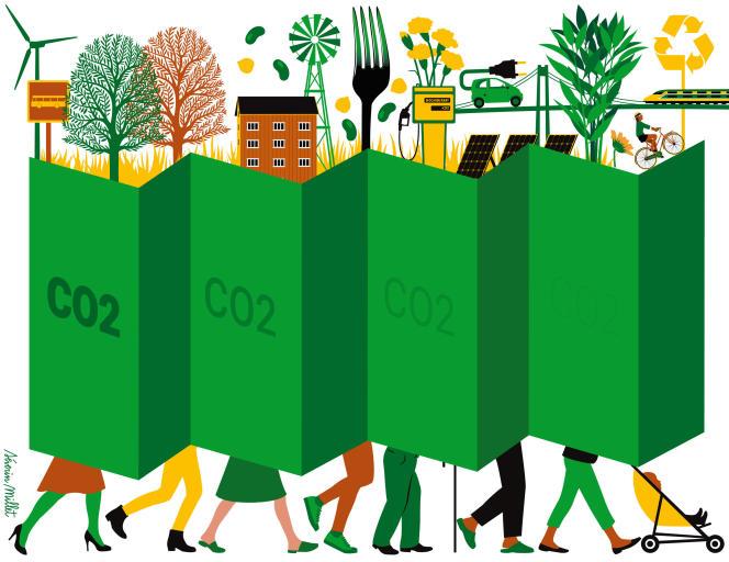 L'objectif de la loi de transition énergétique de 2015: la division par quatre des émissions nationales de gaz à effet de serre.