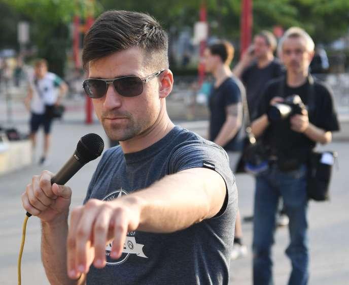Le cofondateur et chef de file du Mouvement identitaire autrichien (IBÖ), Martin Sellner, en juillet 2016.