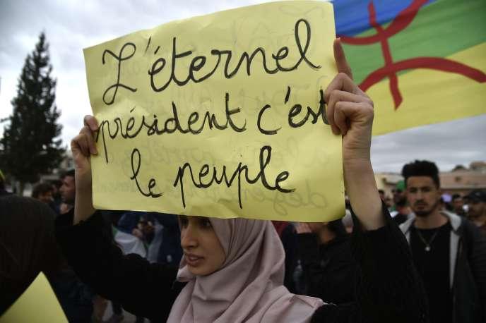 Manifestation à Béjaïa, le 26 mars.