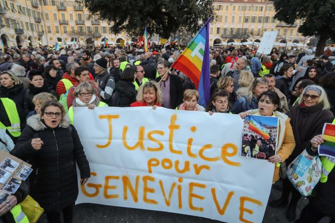Manifestation de soutien à Geneviève Legay à Nice, le 25mars.