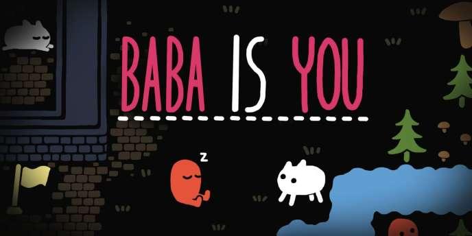 « Baba is You», et Baba, c'est l'espèce de chien blanc. Mais c'est aussi vous. Enfin, des fois.