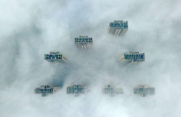 Des gratte-ciel à Yangzhou, en Chine, le 14 janvier.