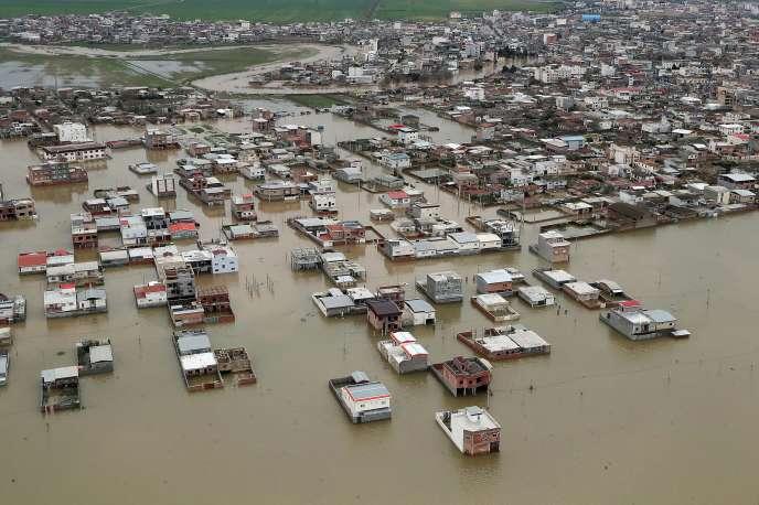 Les inondations dans la région iranienne du Golestan, mercredi 27 mars.