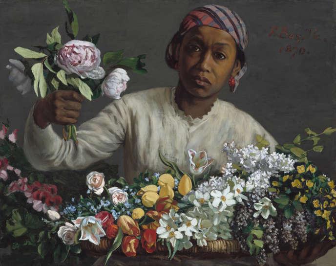 «Jeune femme aux pivoines» (1870), par Bazille.