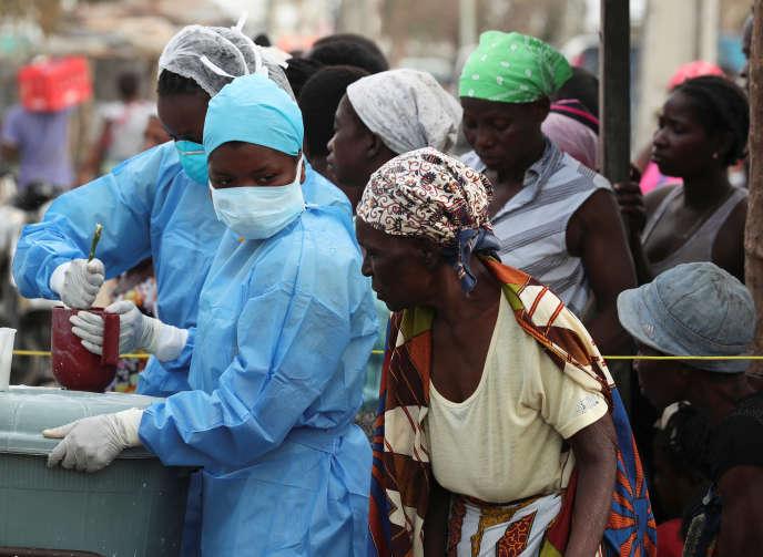 Dans un centre de santé de Beira, au Mozambique, le 27mars.