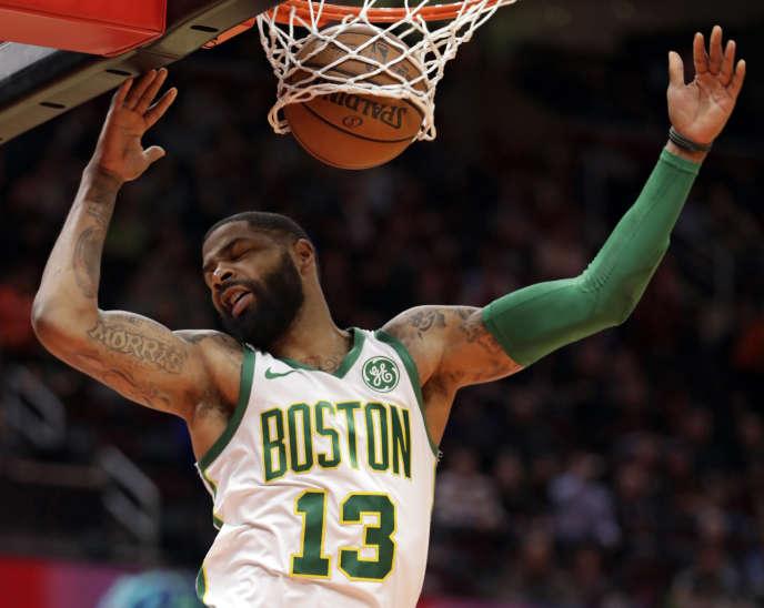 Marcus Morris des Celtics de Boston lors de la rencontre face aux Cavaliers de Cleveland, le 26 mars.