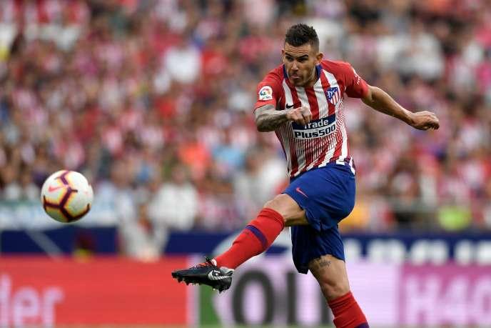 Le défenseur français Lucas Hernandez, le 25 août 2018, avec l'Atlético Madrid.