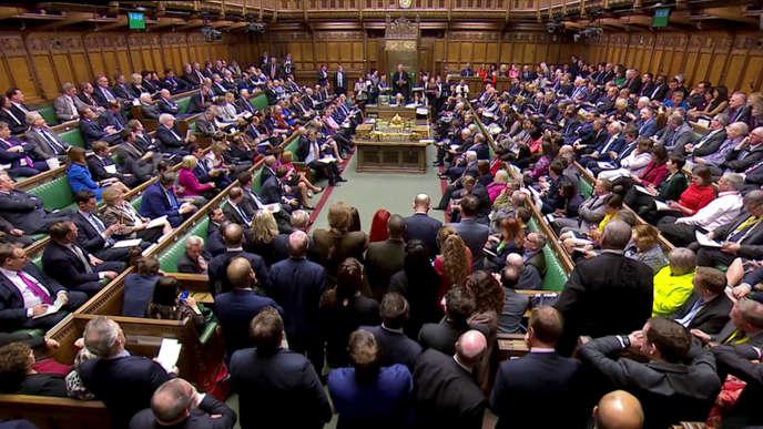 Les députés britanniques à la Chambre des communes, le 27 mars.