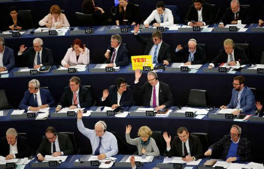 Le vote sur la directive droit d'auteur à Strasbourg, le 26 mars.