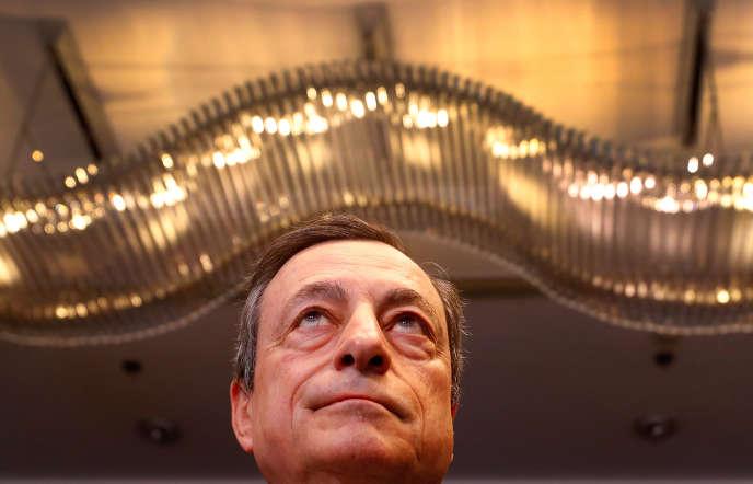 Mario Draghi, président de la Banque centrale européenne, à Francfort, le 27 mars 2019.