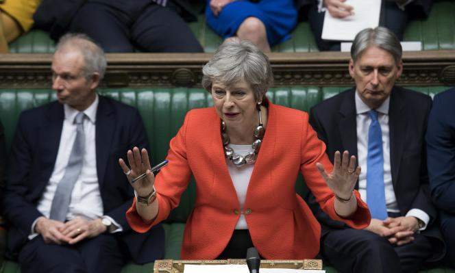 La première ministre britannique, Theresa May, le 12 mars, au Parlement à Londres.