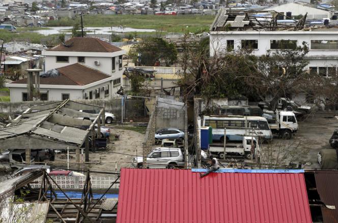 A Beira, au Mozambique, le 27 mars, près de deux semaines après le passage du cyclone Idai.