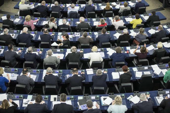 Session plénière au Parlement européen, à Strasbourg, le 17 mars.