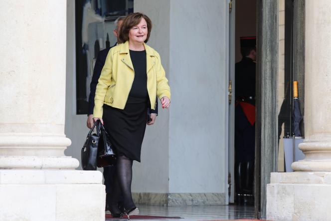 Nathalie Loiseau à sa sortie du conseil des ministres, mercredi 27 mars.