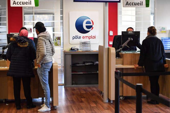 Une agence Pôle emploi à Montpellier (Hérault), le 3 janvier.