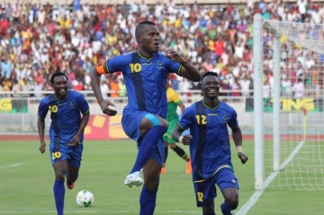 L'équipe tanzanienne lors du match de qualification contre l'Ouganda le 24 mars 2019.