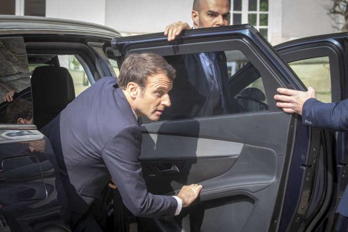 Emmanuel Macron à Angers (Maine-et-Loire), le 26 mars.