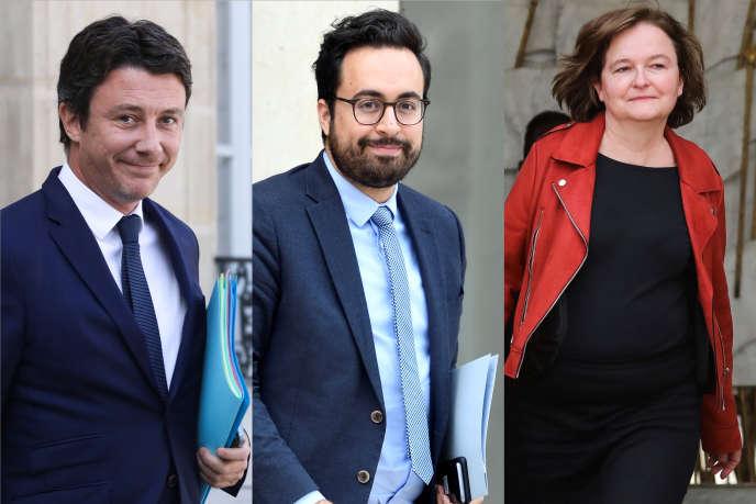 Benjamin Griveaux, MounirMahjoubi et Nathalie Loiseauont quitté le gouvernement le 27 mars.