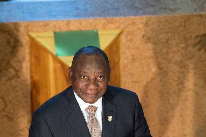 Le président sud-africain Cyril Ramaphosa au Parlement, au Cap, le 7 février 2019.