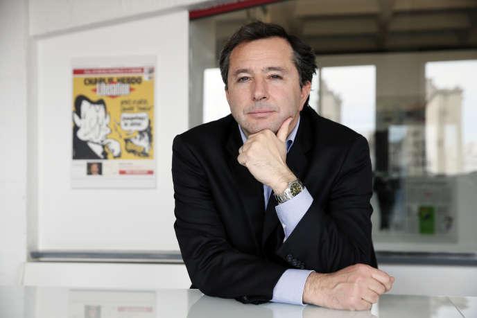 Pierre Fraidenraich, en avril 2014, dans les locaux de « Libération», à Paris.