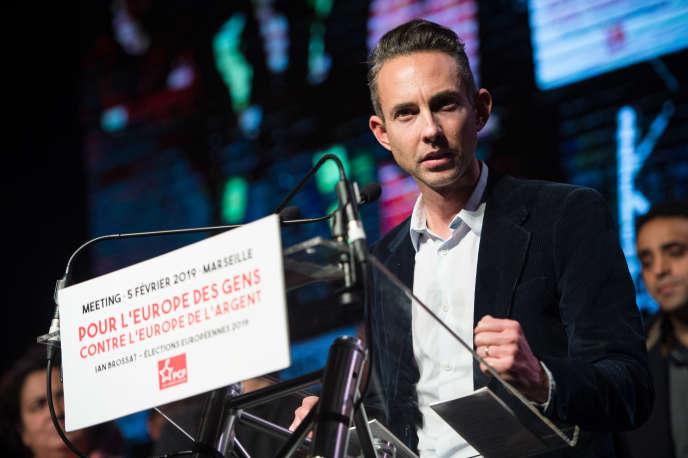 Ian Brossat, tête de liste communiste aux européennes, le 5février.