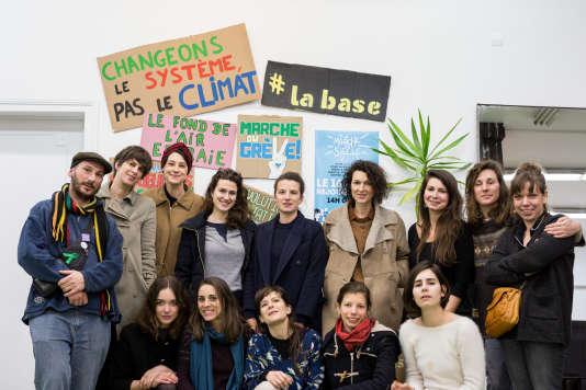 En préparation de la «Marche du Siècle» du 16 mars 2019, une soirée a été organisée à«La Base»,un nouvel espace dédié à la mobilisation citoyenne pour le climat, avec des influenceuses Instagram.
