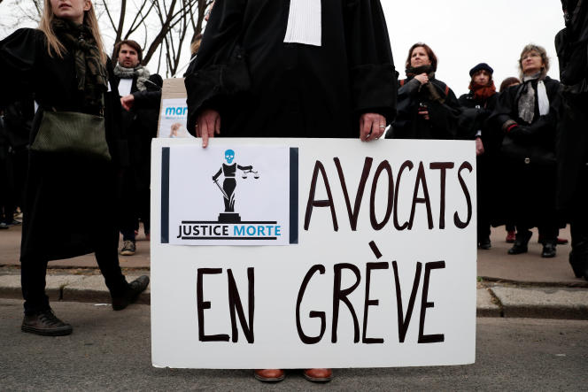 Manifestation d'avocats à Paris, le 15janvier.