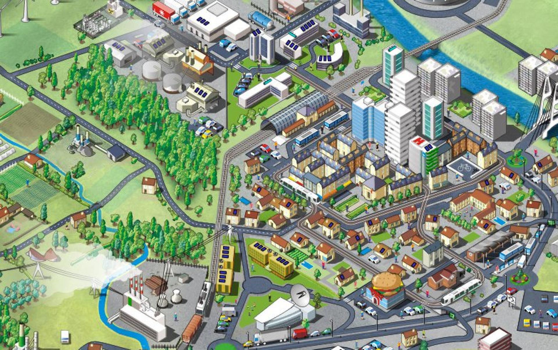 « Clim' City» (2008), un SimCity écologique.