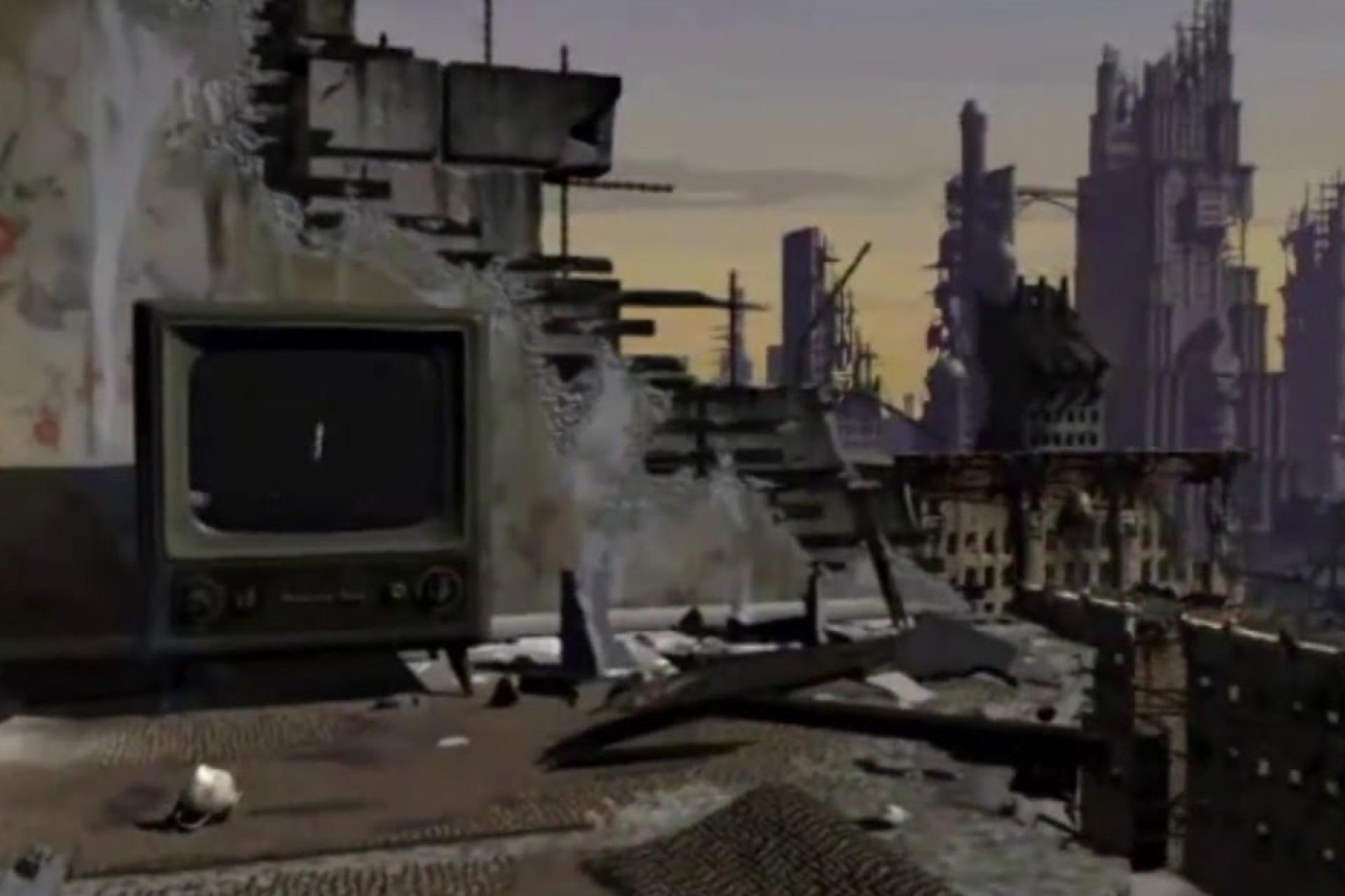 « Fallout» et son point de départ, les vestiges d'une guerre nucléaire, en 1997.
