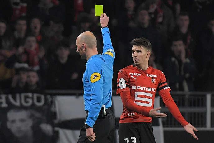 Averti face à Lyon, le 29 mars, Adrien Hunou est l'un des jeunes joueurs rennais issus du centre de formation.