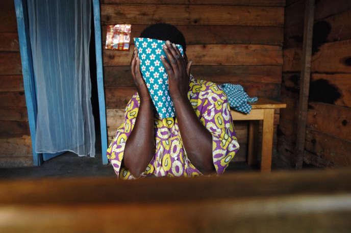 Dans un centre d'accueil de victimes de viol, près de Goma, en République démocratique du Congo, en octobre 2007.