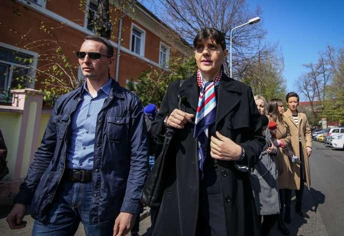La magistrate roumaine Laura Codruta Kovesi, à Bucarest, le 29 mars.