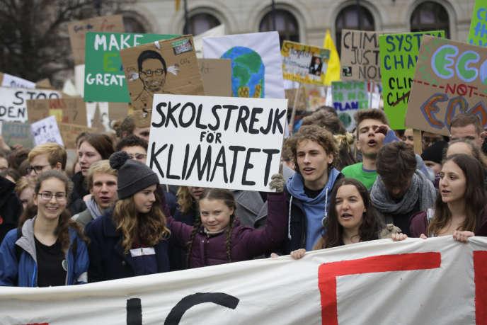 La militante suédoise Greta Thunberg, le 29 mars à Berlin.