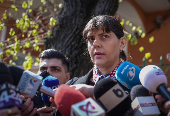 La procureure roumaine Laura Codruta Kovesi, à Bucarest, le 29 mars.