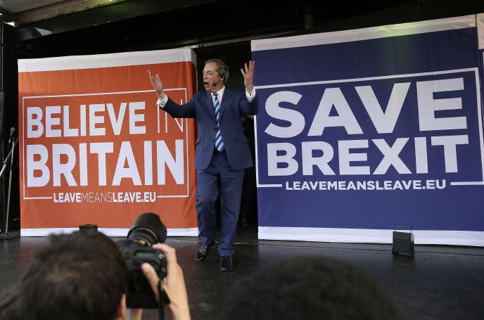 Nigel Farage, le 29 mars à Londres.