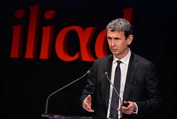 L'ancien directeur général d'Iliad, Maxime Lombardini, à Paris, en mars 2016.