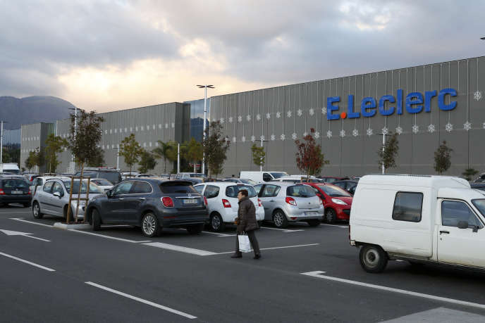 Le supermarché Leclerc-Baleone, à Ajaccio, en décembre 2018.