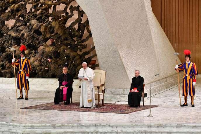 Le pape François, au Vatican, le 29 mars.
