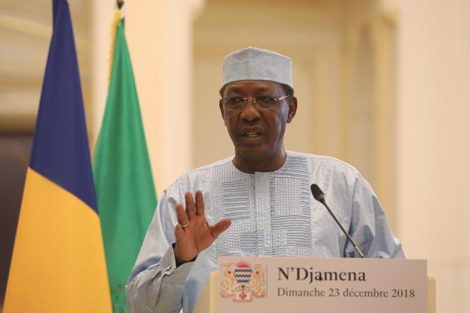 Le président tchadien Idriss Déby, à N'Djamena, le 23 décembre 2018.