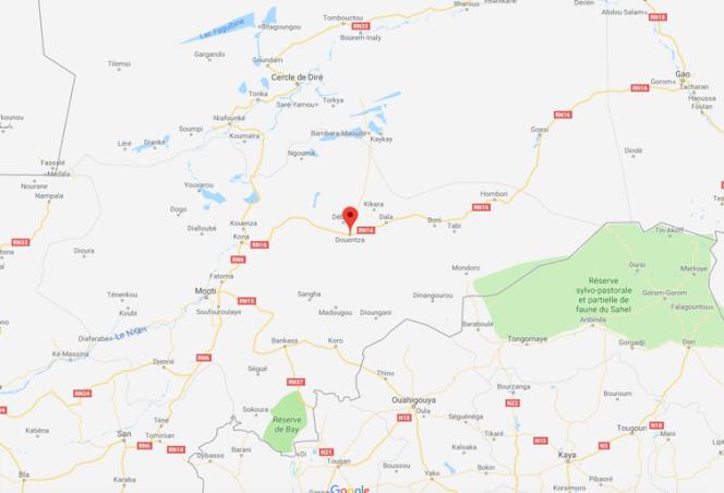 La situation de la ville de Douentza, dans le centre du Mali.