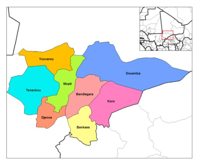 La région du centre du Mali.