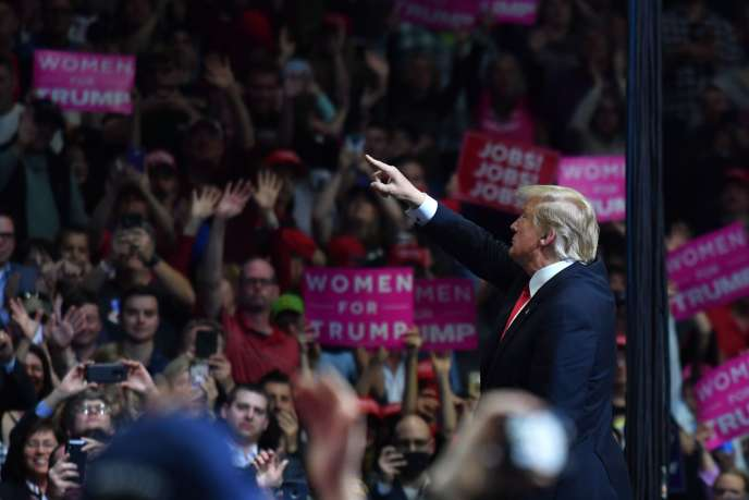 Le président américain Donald Trump à Grand Rapids (Michigan), le 28 mars.