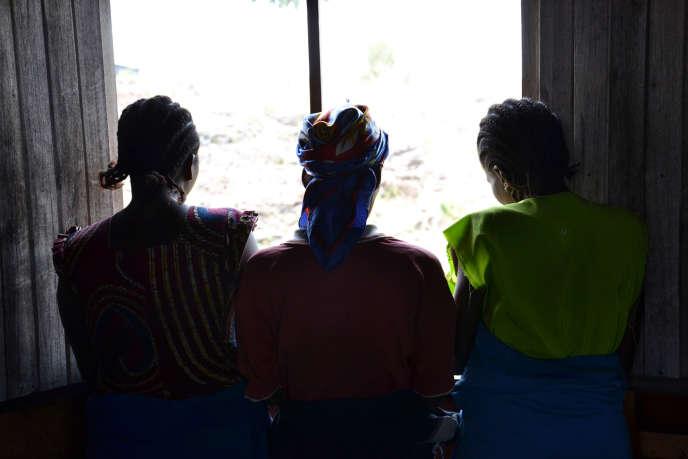 Des femmes victimes de violences sexuelles dans un camp de déplacés près de Goma, en République démocratique du Congo, en 2013.