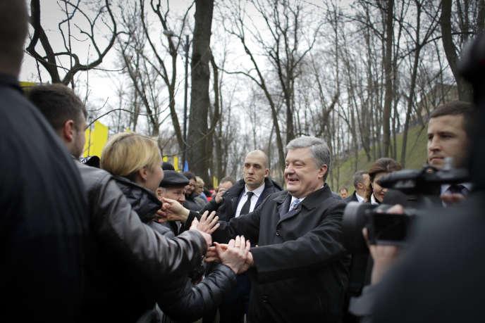 Le président ukrainien Petro Porochenko à Kiev, le 30 mars.
