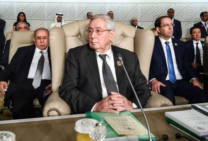 Le président du Conseil de la nation algérien (équivalent du Sénat), Abdelkader Bensalah, le 31mars2019.