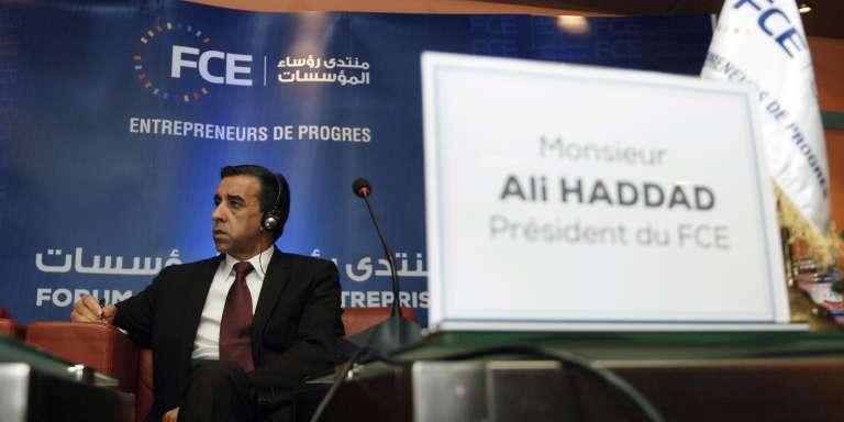 Ali Haddad, président du Forum des chefs d'entreprise (FCE), en 2015 à Alger.