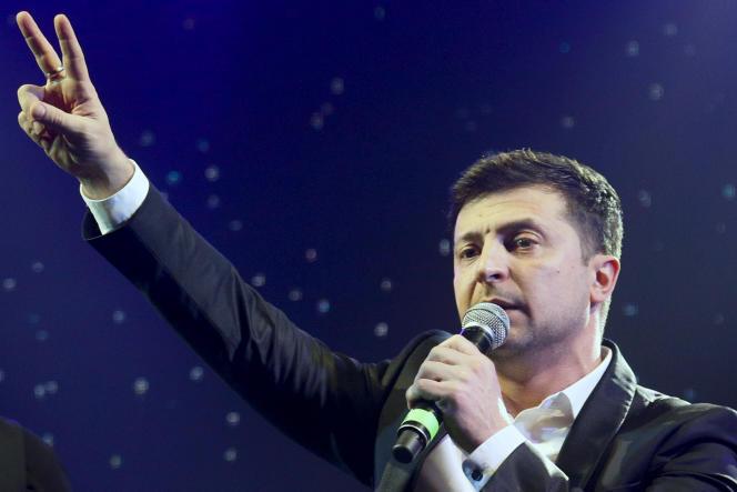 Volodymyr Zelenski, le 29 mars àBrovary, en Ukraine.