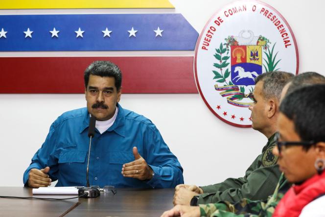 Le président Nicolas Maduro a annoncé un plan de 30 jours pour rationner l'électricité, à Caracas le 31 mars.