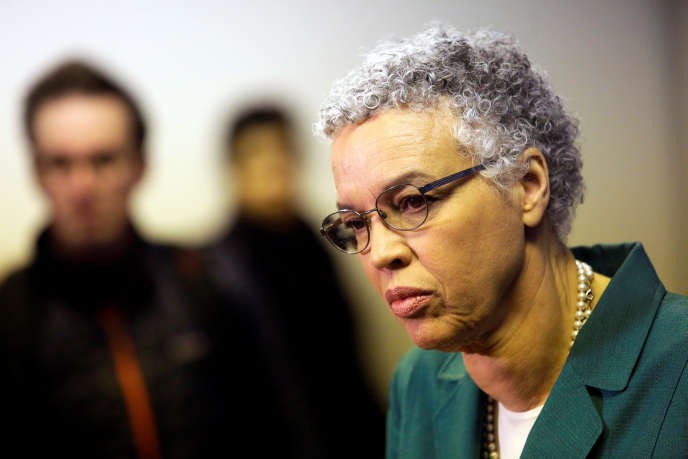 La candidate démocrate Toni Preckwinkle à Chicago (Illinois), le 26 mars.